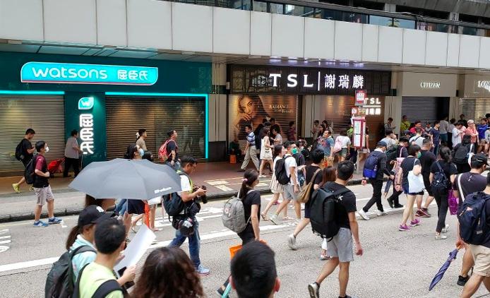 unjuk rasa di Hong Kong