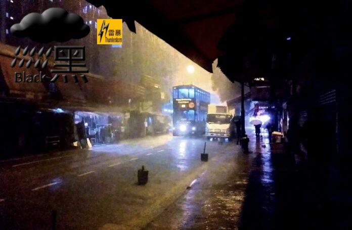 Hong Kong Observatory Naikan Sinyal Menjadi Hujan Hitam, Pertanda Hujan Makin Lebat dan Berpotensi Sebabkan Banjir Bandang