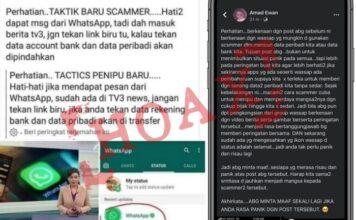 status Whatsapp bisa curi data bank penggunanya adalah hoax