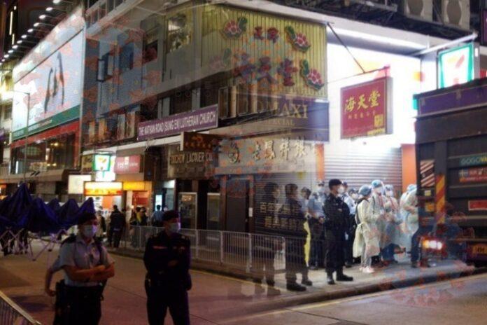 Pemerintah Ambush LOCKDOWN Beberapa Bangunan di Yuen Long, TST dan Kowloon City