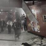Atap Beton di Stasiun MTR Central Tiba-Tiba Runtuh, Penumpang Berlarian Menghindari