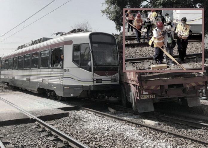Truk bertabrakan dengan kereta MTR Light Rail dekat Halte Chung Uk Tsuen, 22 terluka